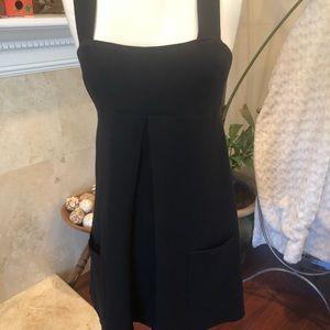 DVF Black Knit A-Line Mini Dress